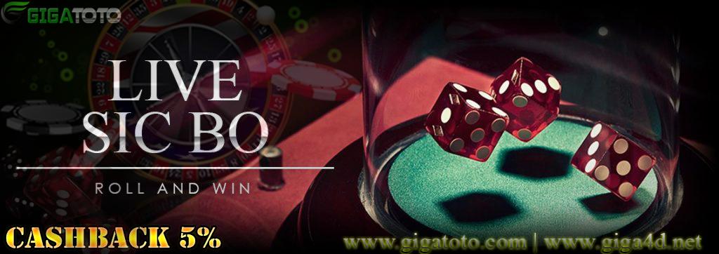 Mainkan permainan LIVECASINO SICBO DICE - DICE 6