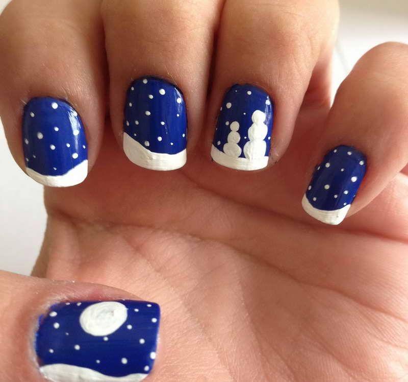 Snowflake motif nail art dolls with snowg 800748 nail art snowflake motif nail art dolls with snowg prinsesfo Images