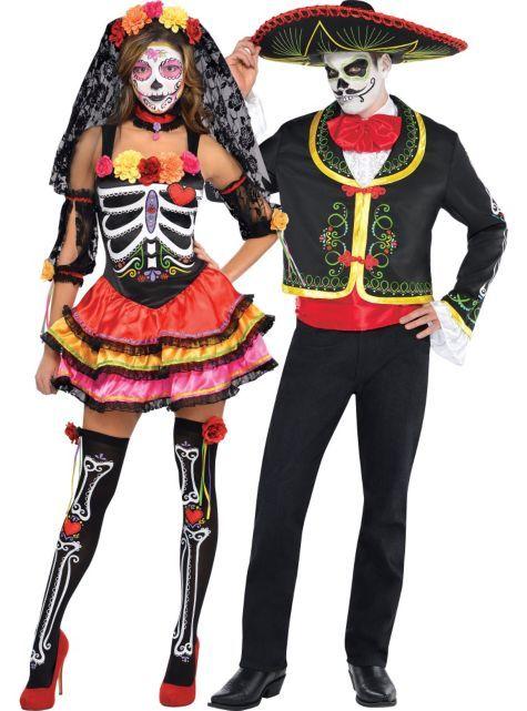 day of the dead couples costumes senorita 4999 sombrero 4999 - City Party Halloween Costumes