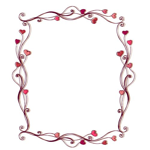 set of heart frame vector material 02 vector frames borders free download