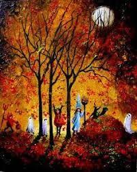 Image result for falling leaf moon #nachtvorallerheiligen