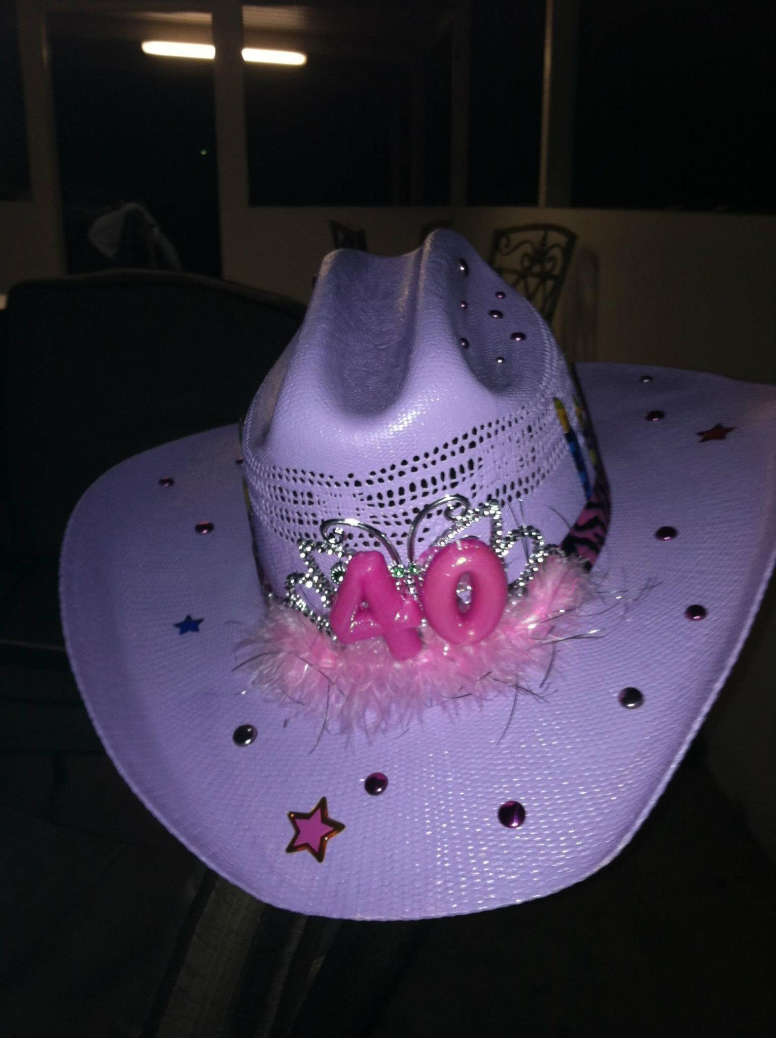 40th birthday cowgirl hat  f18bf872ac5
