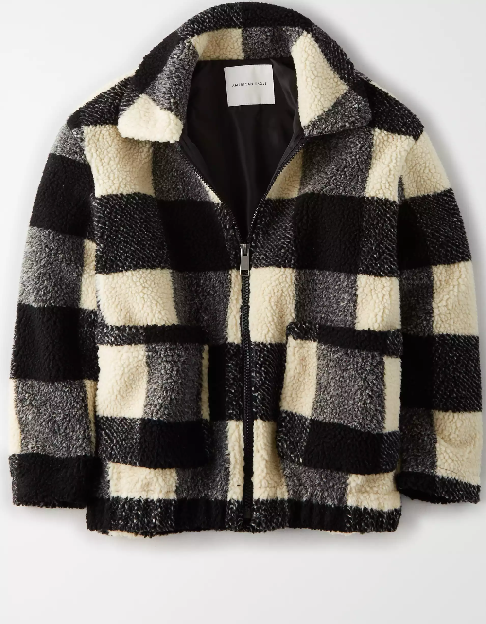 Ae Fuzzy Sherpa Bomber Jacket Clothes Bomber Jacket Jackets [ 1282 x 1000 Pixel ]