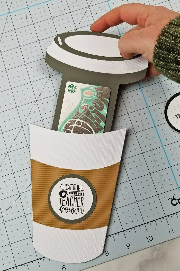 Coffee Cup Gift Card Holder Template FREE PDF and SVG File
