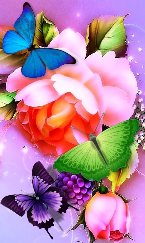 Download Colorful Flower Mobiles Wallpaper from Mobile
