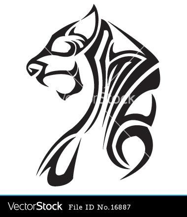 Lion Tattoo Vector Image On Vectorstock Tribal Tiger Tattoo Tribal Tiger Tribal Tattoos