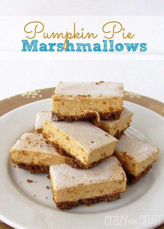 Pumpkin Pie Marshmallows are a fun treat for Fall! Pumpkin flavored marshmallows mixed with a gingersnap crust! #flavoredmarshmallows Pumpkin Pie Marshmallows are a fun treat for Fall! Pumpkin flavored marshmallows mixed with a gingersnap crust! #flavoredmarshmallows