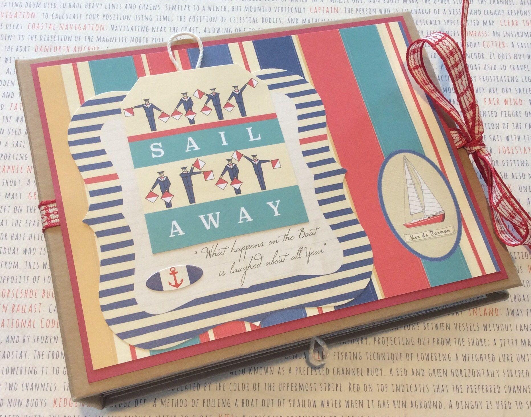 Scrapbook ideas without photos - Vacation Mini Album Vacation Scrapbook Vacation Photo Album Nautical Scrapbook Album Sailing