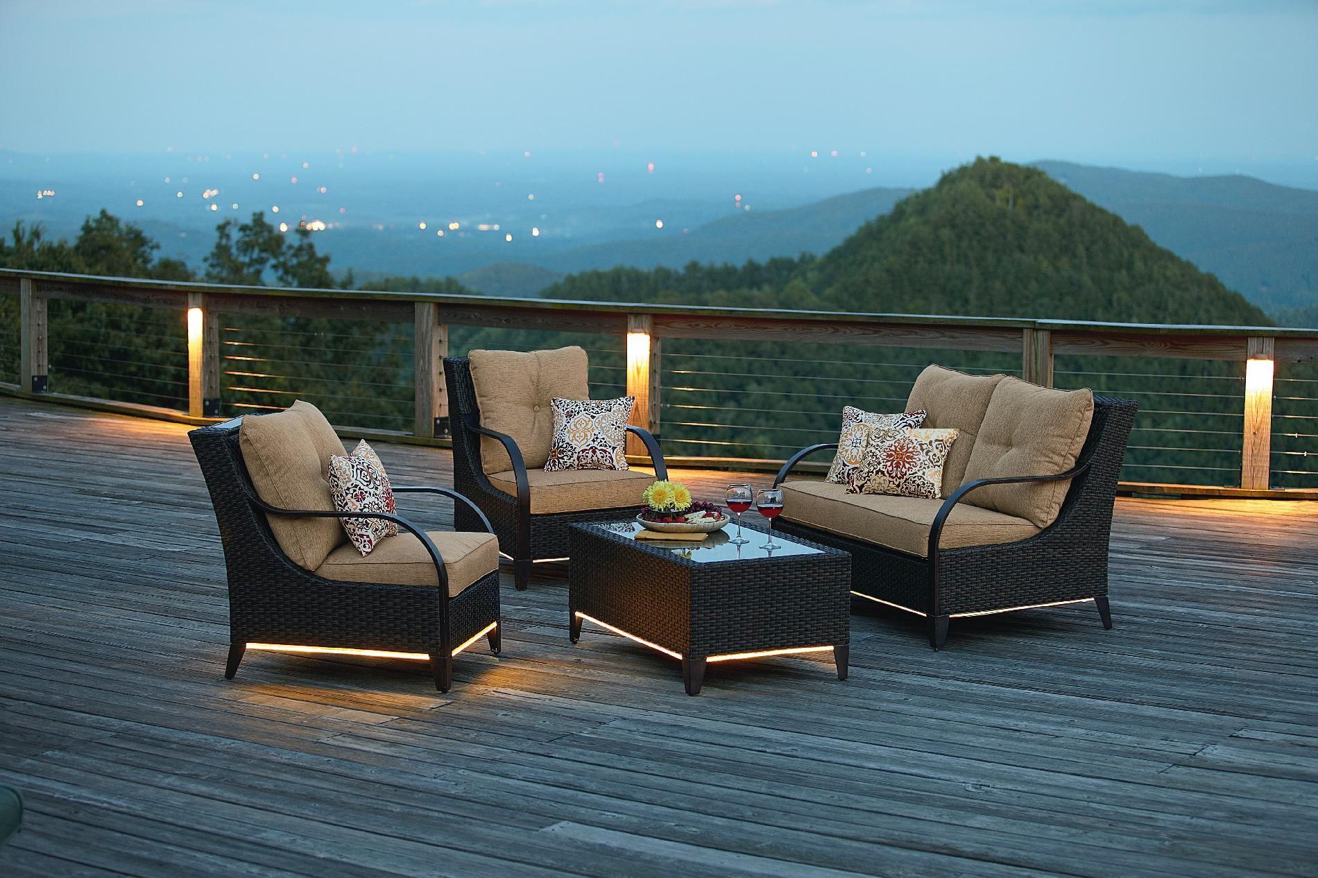 Ty Pennington Style Freeport 4 Piece Seating Set Outdoor