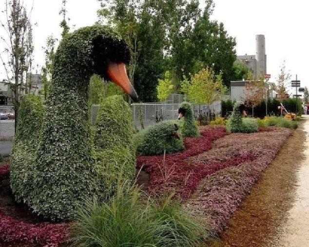 esculturas verdes para el jardn