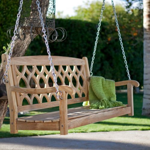 Wonderful Exotic Wooden Porch Swing Ideas