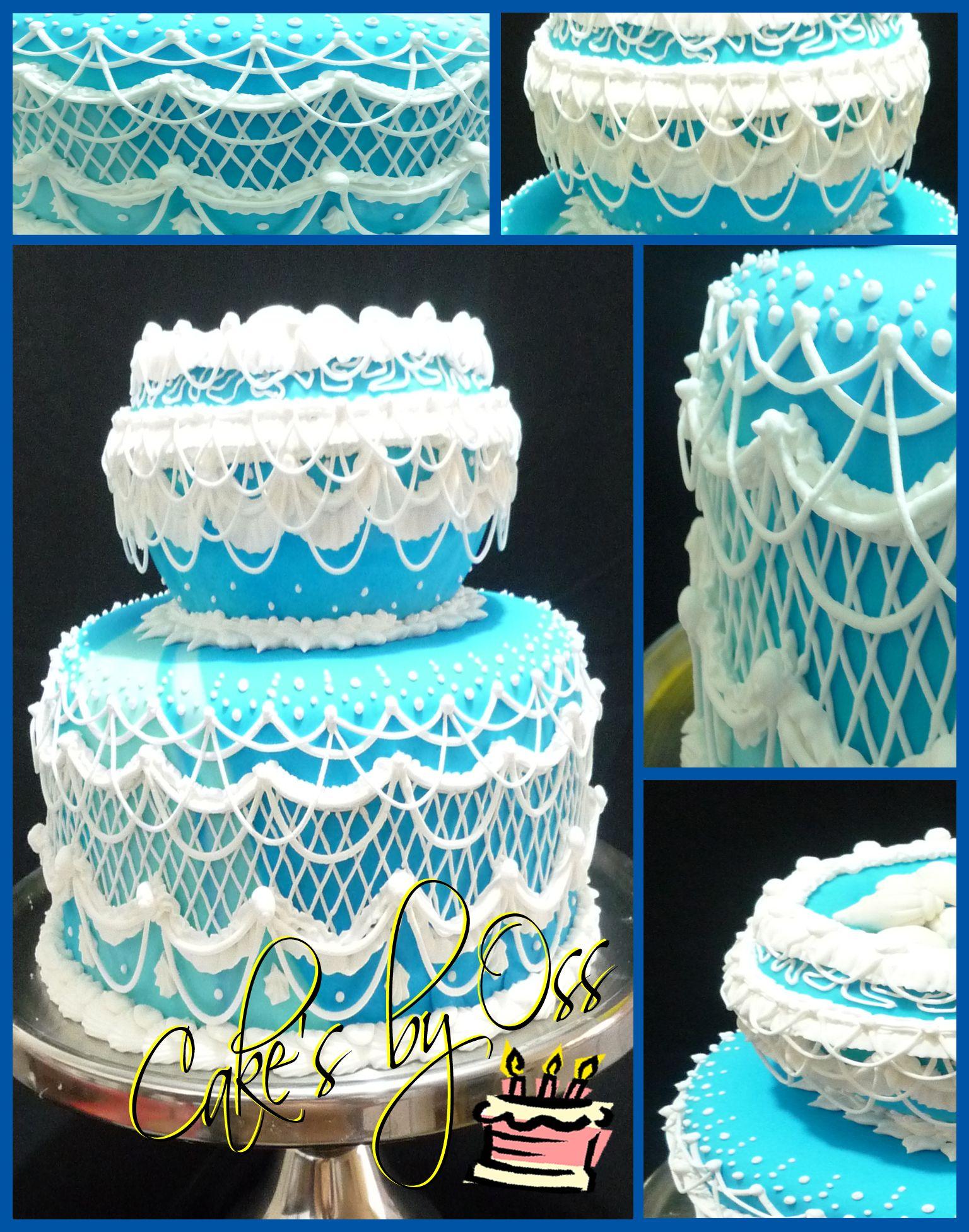 Inspiraci n griega este pastel de 2 pisos con 3 capas de for Decoracion de pisos
