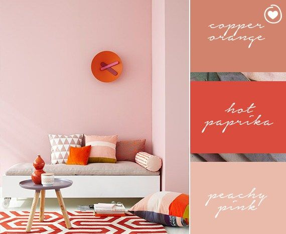 7 colour ways with Copper Orange | Half painted walls ...