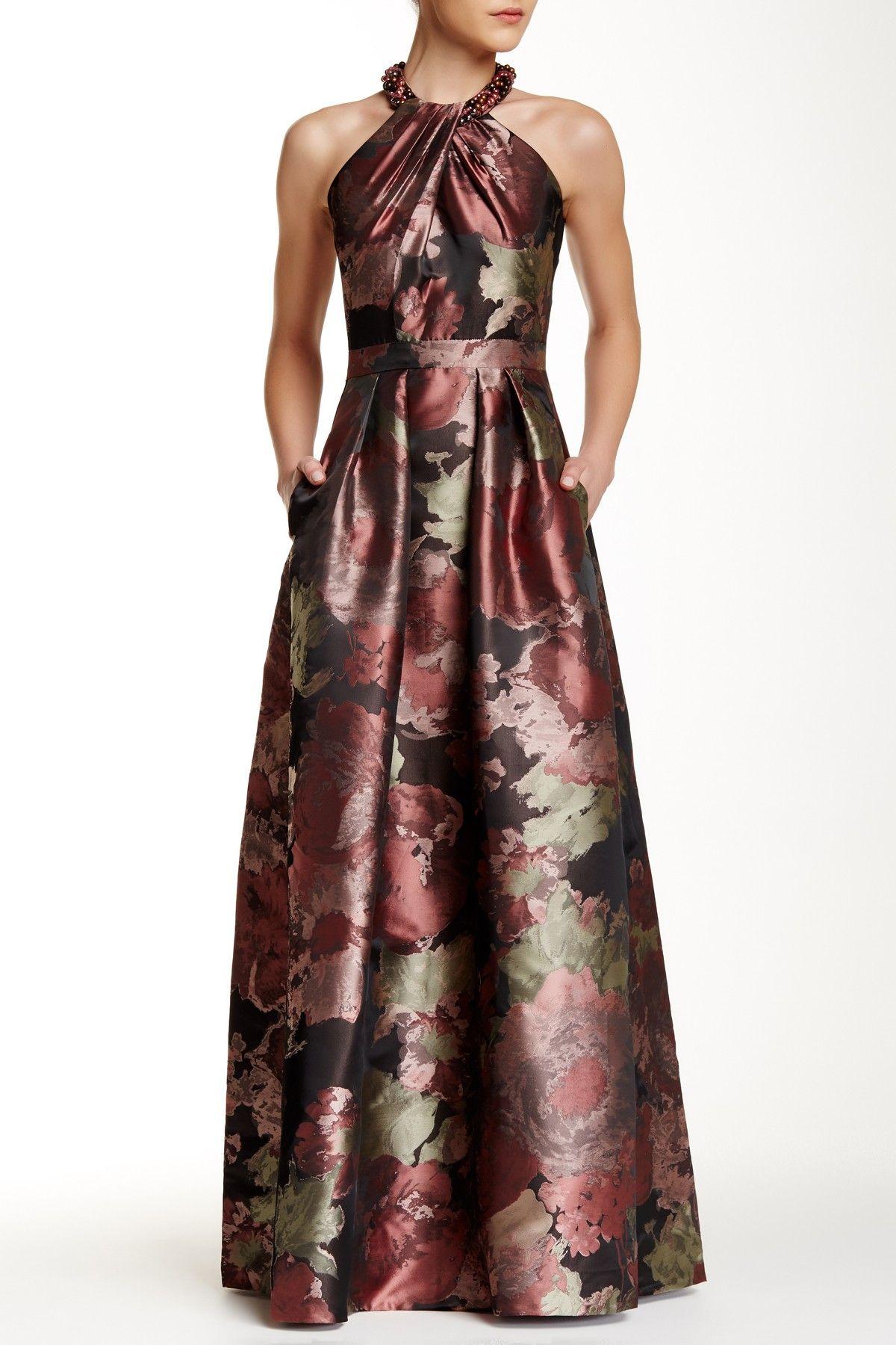 12351a4a000987 Beaded Halter Neck Dress by Carmen Carmen Marc Valvo on @HauteLook ...