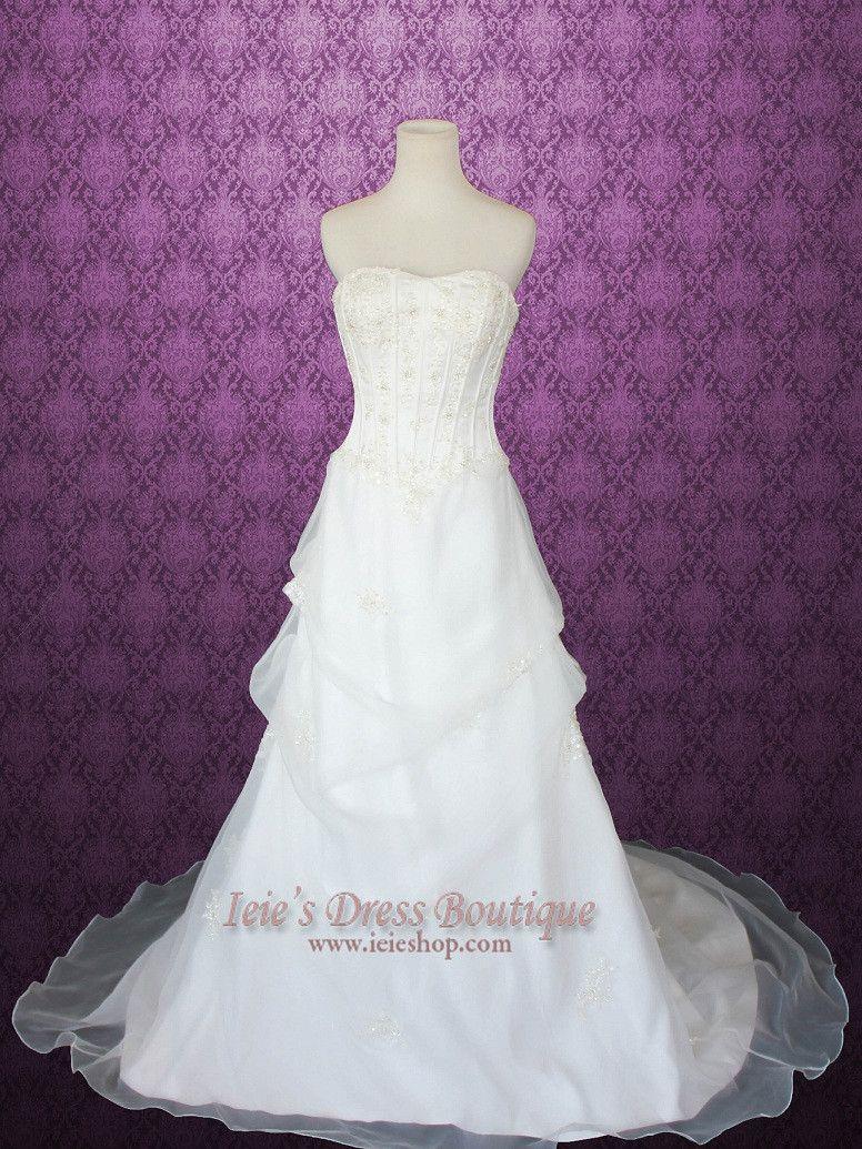 Strapless Corset A-line Organza Wedding Dress | Jomayne