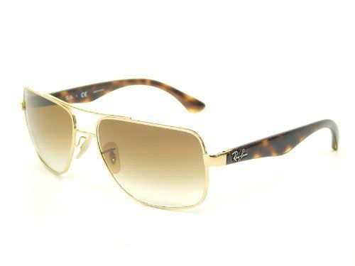 8e2e7aaf23 New Ray Ban RB3483 001 51 Arista Crystal Brown Gradient 60mm Sunglasses. Ray