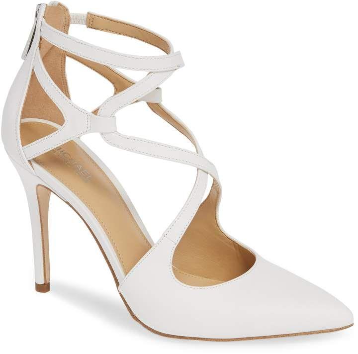 Bridal Shoes At Nordstrom: MICHAEL Michael Kors Catia Cross Strap Pump (Women In 2019