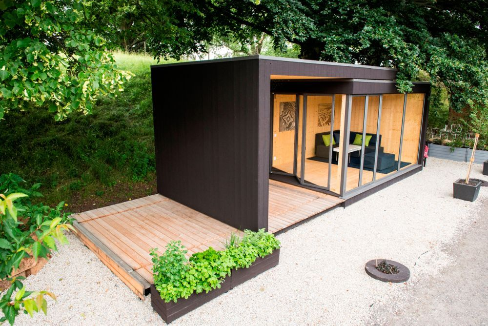 Kenjo Outdoor Cottage Hinterhof büro, Flachdach