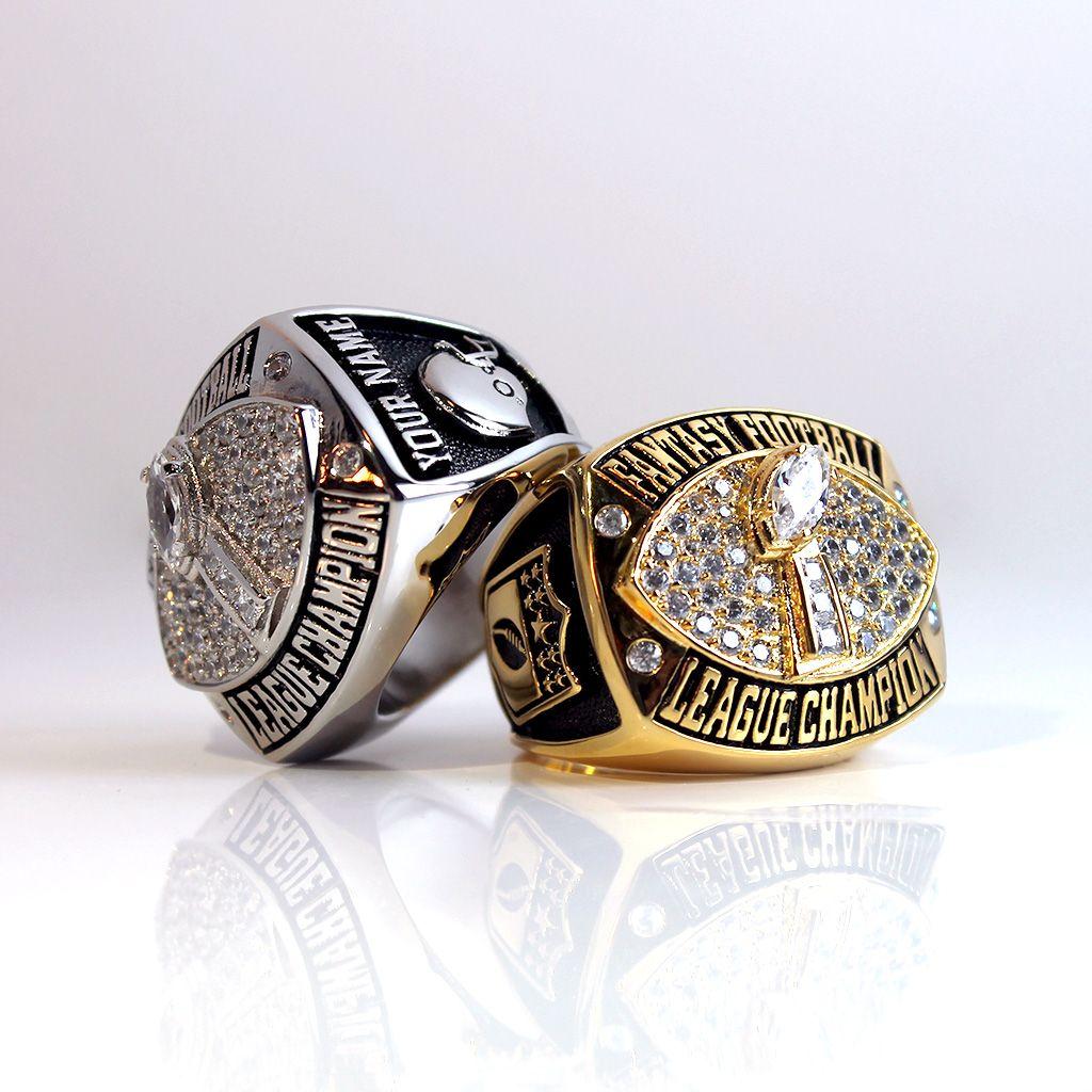Fantasy football championship ring personalized