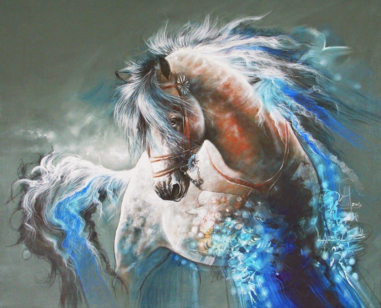 Imagenes-de-pinturas-modernas-con-caballos
