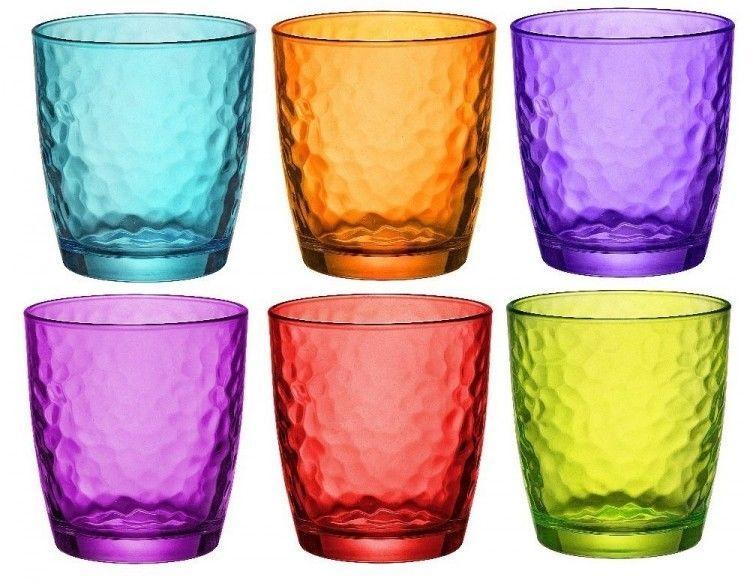 Coloured Drinking Gl Set Tumbler Gles Water Juice Glware