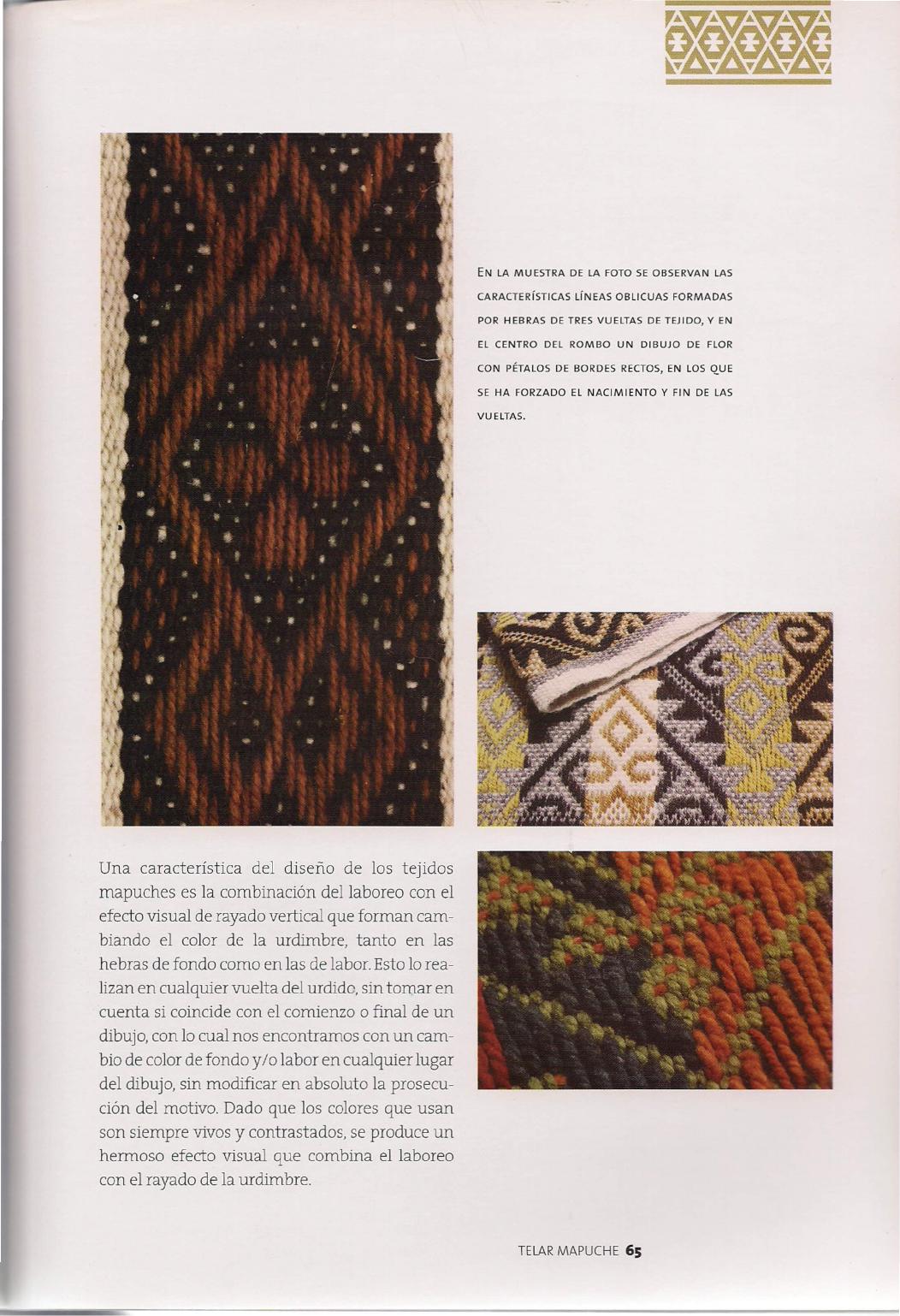 Telar Mapuche Pdf Telas Patrones Para Tejer Con Telar Artes Textiles