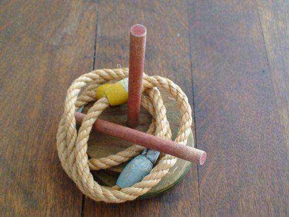 Antique Ring Toss Two Wooden Bases Two by vintageheartstrings, $18.00
