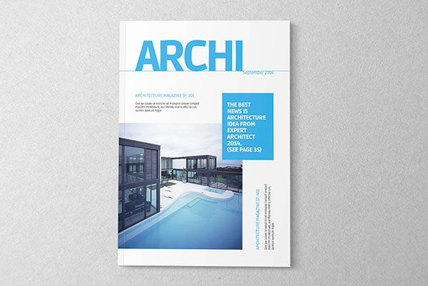 Architecture magazine template on Behance Brochures Pinterest - architecture brochure template