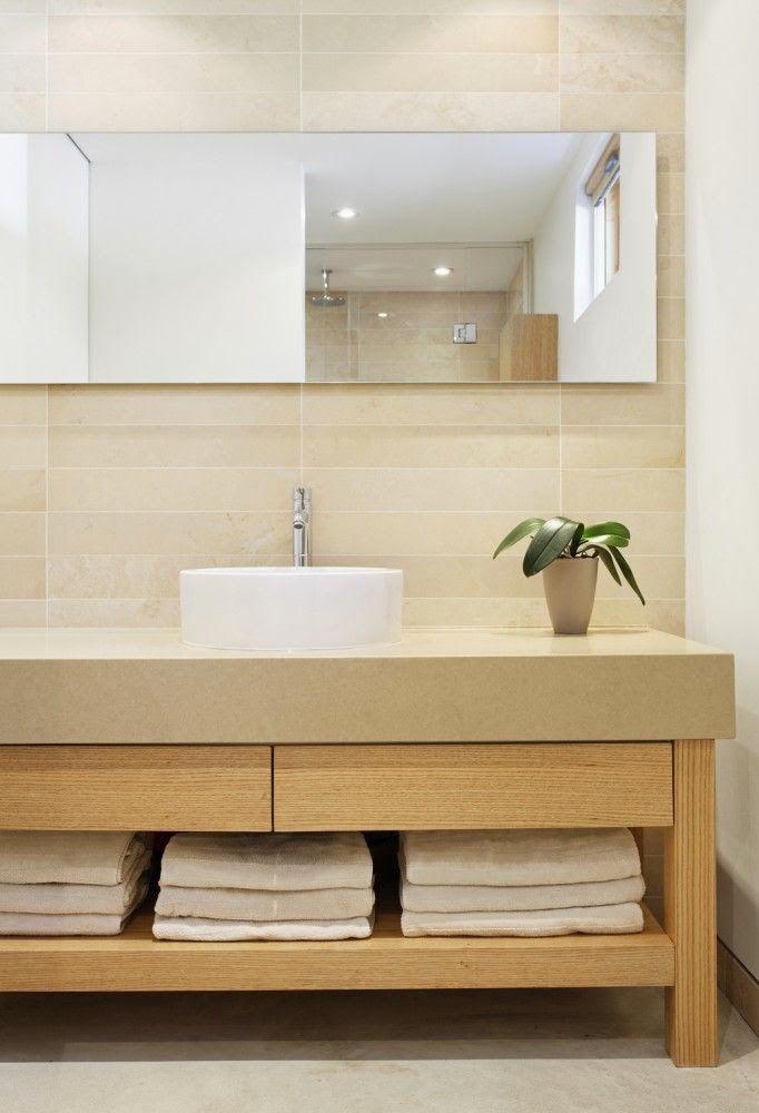9 fotos de ba os modernos con almacenaje abierto ideas para bath and interiors - Almacenaje para banos ...