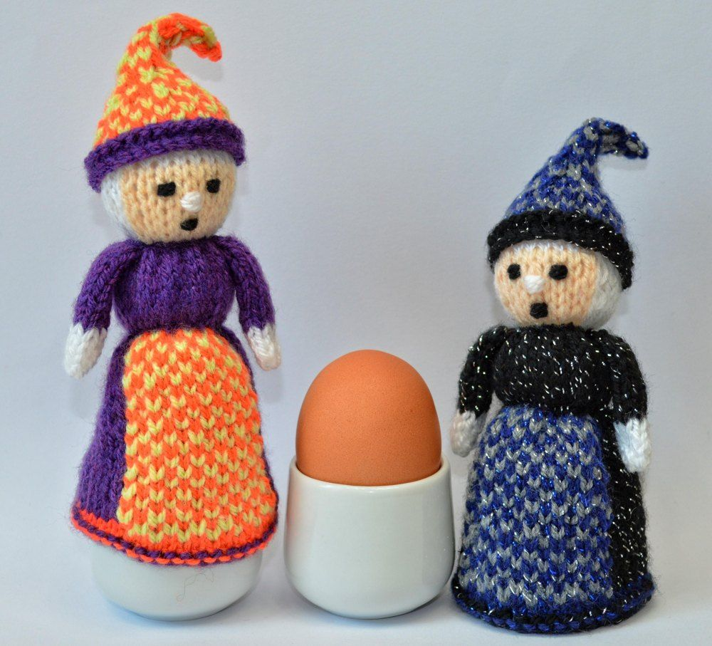 Halloween Witch Doll Egg Cosy Knitting pattern by Joanna ...