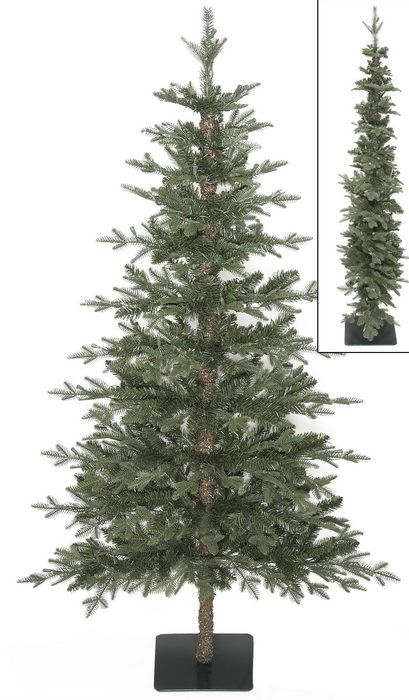 7ft christmas tree with lights prelit tree artificial christmas 7ft 48in espalier alpine with wood trunku2026
