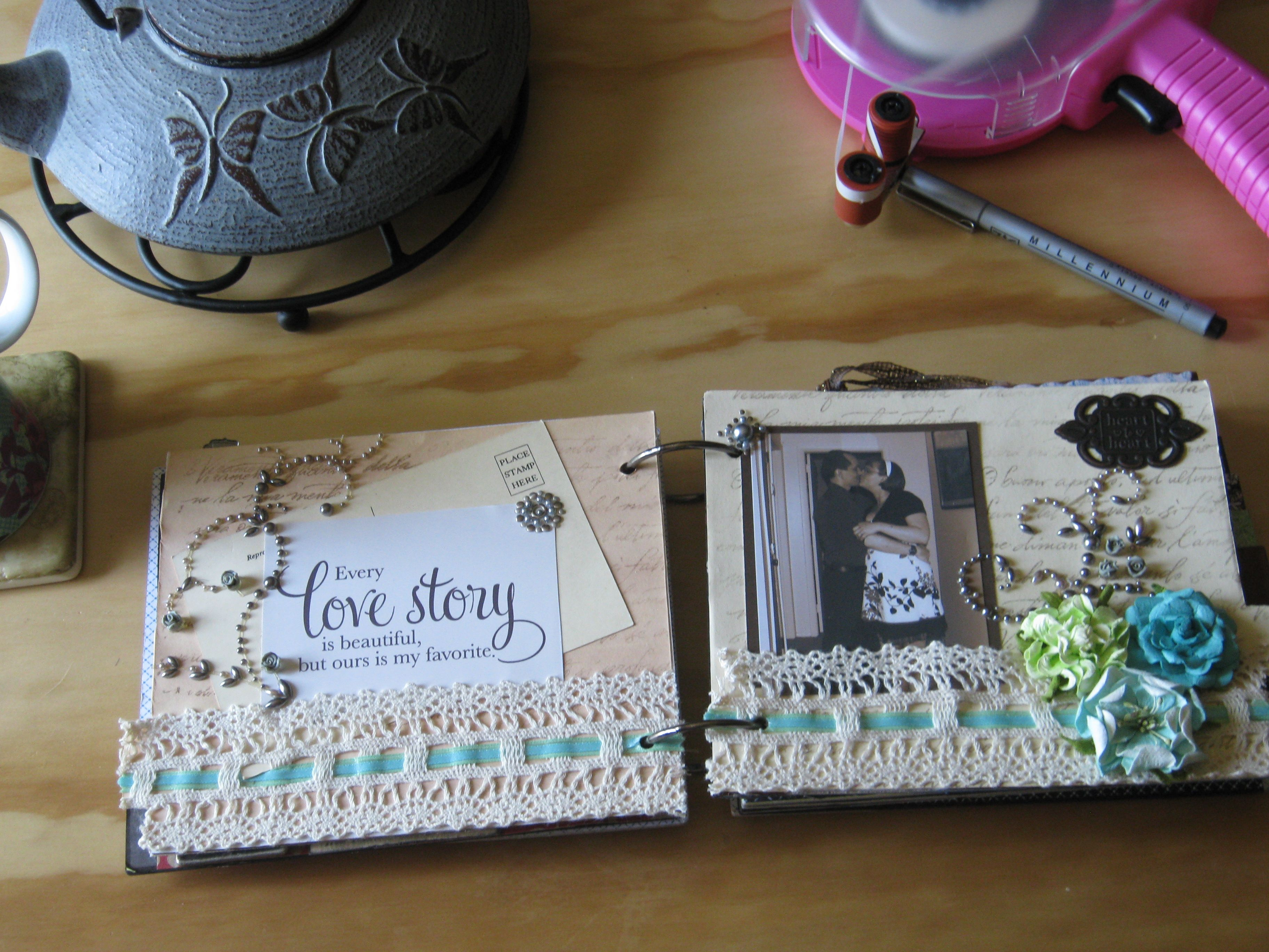 Love Story Scrapbook Page