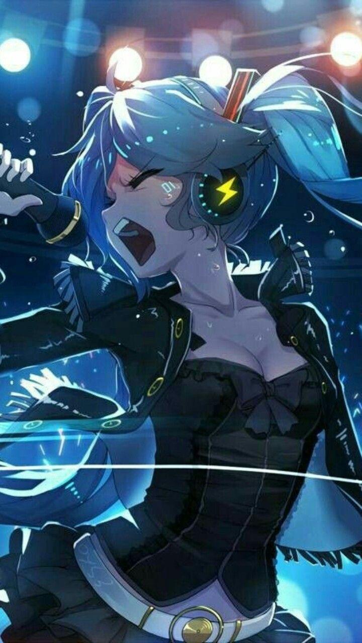 Miku Singing Music Dramatic Anime Kawaii Anime Anime Artwork