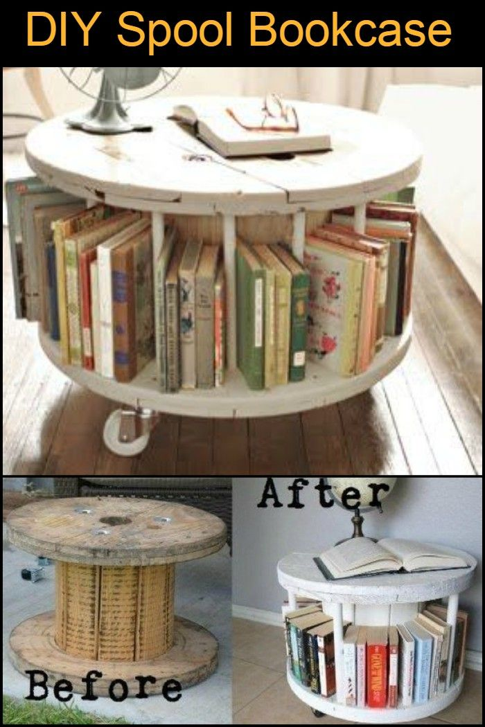 This Recycled Timber Spool Turned Into Bookcase Can Also Be Used As A Coffee Table End Or Display