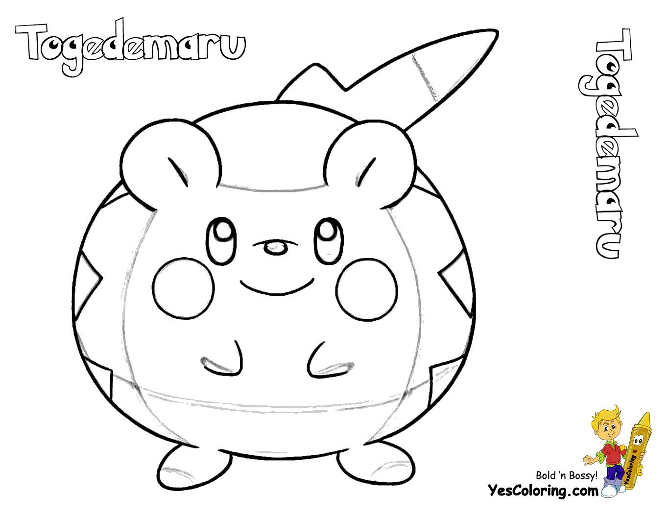 Pokemon Coloring Pages Togedemaru Through The Thousands Of Pictures On The Internet Regarding Pokemon Coloring Pokemon Coloring Pages Pokemon Coloring Sheets