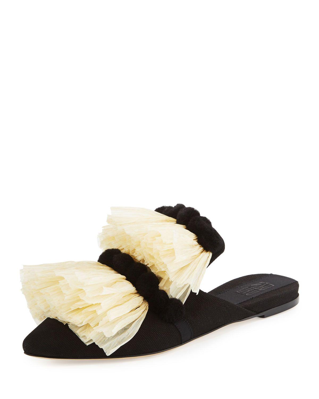 8f64017e1529f8 ... kate spade new york Iris Ankle Strap High Heel Sandals Pewter super  cheap  Ruffled Raffia Mule Slide