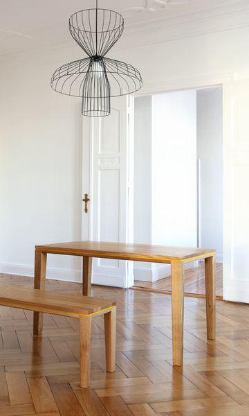 tisch bank r10 set eiche massivholz esstisch 2m | products, Esstisch ideennn