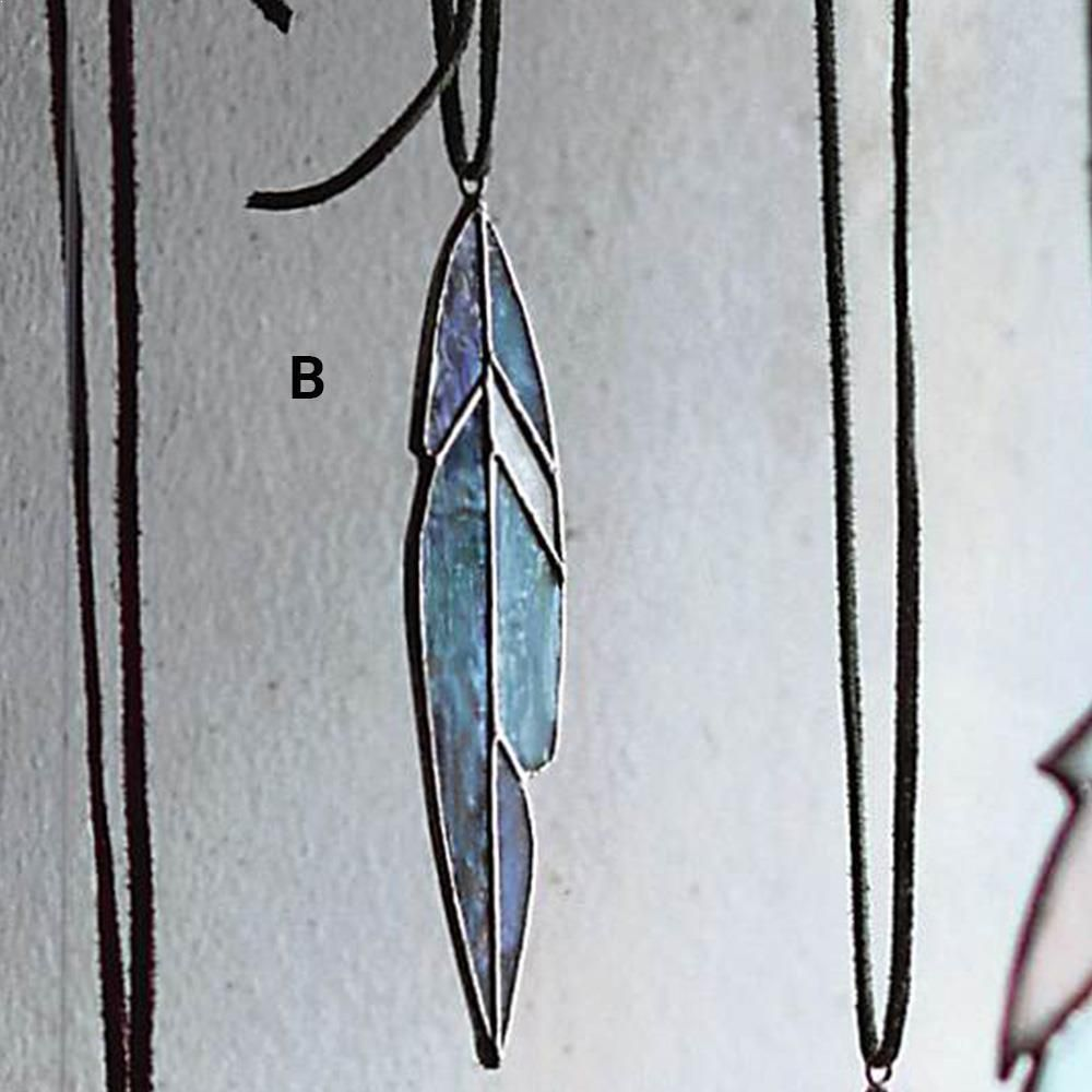 Roost Stained Glass Feather Ornaments   Set Of 8 #StainedGlassOrnaments