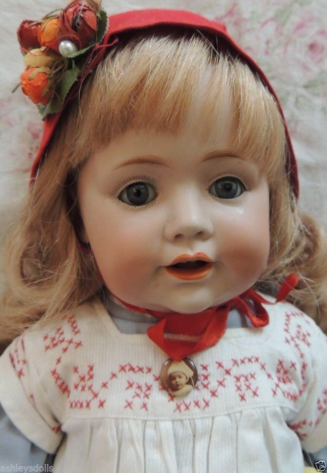 """Kestner #247 Antique German Bisque Toddler Doll, 18"""" Antique Doll Slant Hips!"""