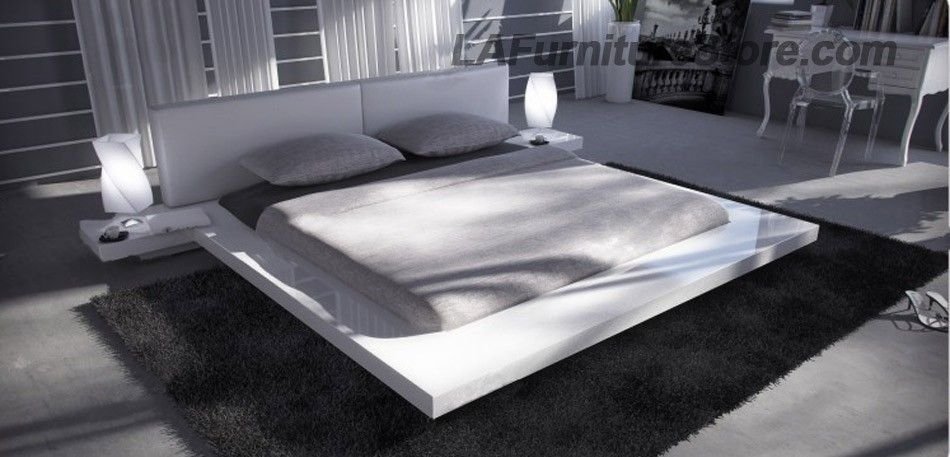 Ooh I Like This White Lacquered Modern Bed Contemporary