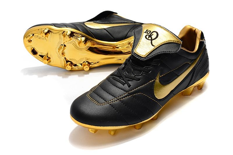Nike Tiempo Legend 7 R10 Elite Fg New Soccer Cleats Black Golden Cleats Soccer Cleats Soccer Cleats Nike