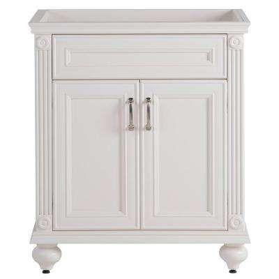 W Vanity Cabinet Only in Cream - Annakin 30 In. W Vanity Cabinet Only In Cream Powder Room