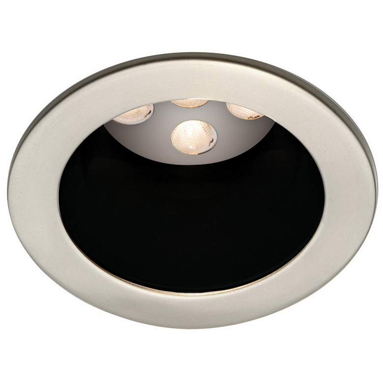 Wac Brushed Nickel Black 4 Led Recessed Light Trim 1c575 Lamps Plus Recessed Lighting Recessed Light Trim Recessed Lighting Trim