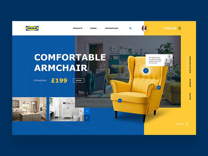 Ikea Website Concept Corporate Website Design Website Design Ikea
