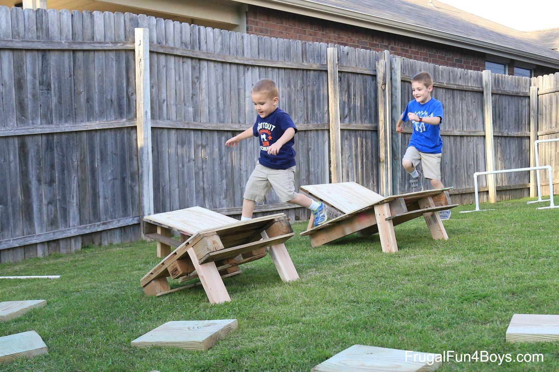 Backyard America Part - 18: Backyard Obstacle Course - American Ninja Warrior Style!