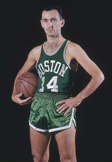 ... Boston Celtics guard Bob Cousy poses for SI photographer Hy Peskin  during a Nov. 396e59597