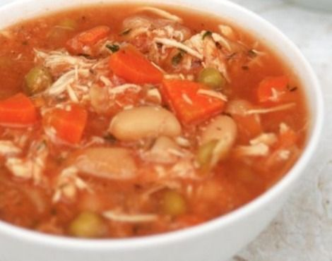 w w recipes: Slow Cooker Chicken Vegetable Soup 2 Smartpoints