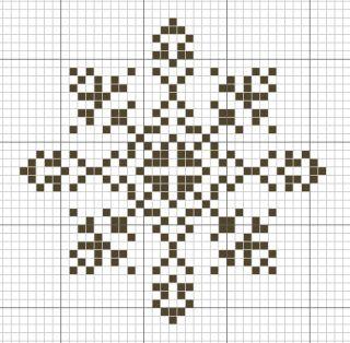Новогодние снежинки схема для вышивки