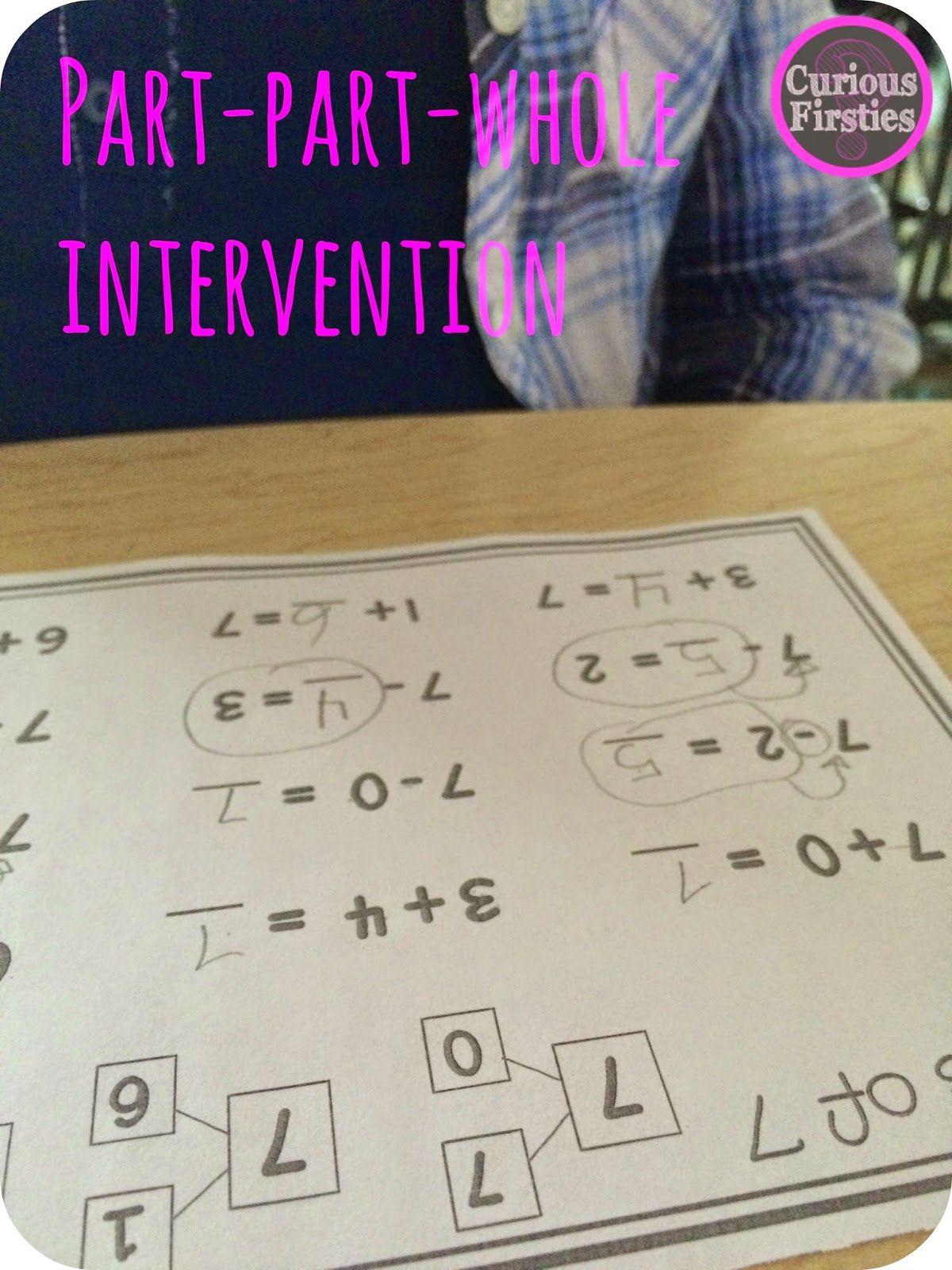 Part Part whole intervention: ideas and assessments | TpT Math ...