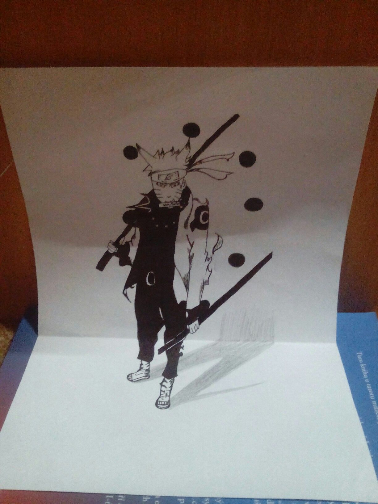 Naruto 3d draw drawing naruto 3d anime paper